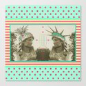 Pineapple architecture 3 : statue of liberty Canvas Print