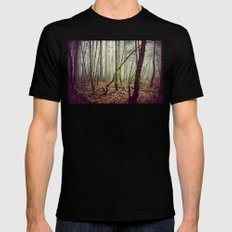 Out In The Woods Today SMALL Mens Fitted Tee Black