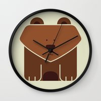 Square Bear Wall Clock