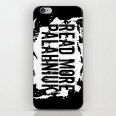 Read More Palahniuk  |  … iPhone & iPod Skin