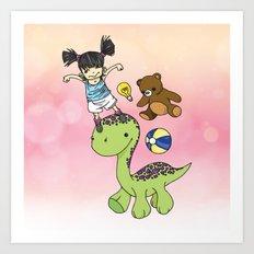 Child Imagination Art Print