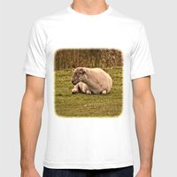 Ewe Looking At Me? Mens Fitted Tee White SMALL
