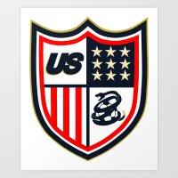 US Soccer Art Print
