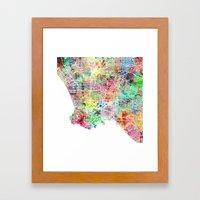 Los Angeles Map Californ… Framed Art Print