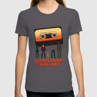 GUARDIANS OF THE GALAXY Womens Fitted Tee Asphalt MEDIUM