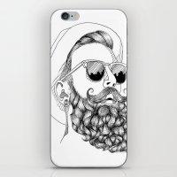 beard & sunglasses iPhone & iPod Skin