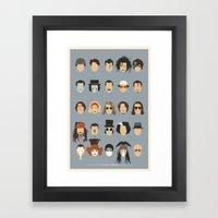 25 FACES OF JOHNNY Framed Art Print