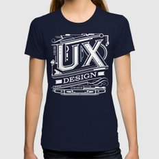UX - Industrial Design - Red Womens Fitted Tee Navy SMALL