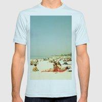Summer Sun Mens Fitted Tee Light Blue SMALL