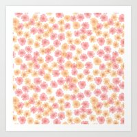 Pink Cherry Blossom  Art Print