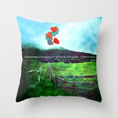 there is a field... I'll meet you there. Throw Pillow