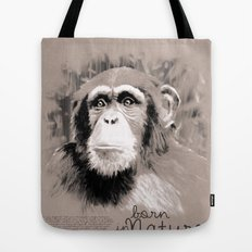 Chimpanzee (BornInNature) Tote Bag