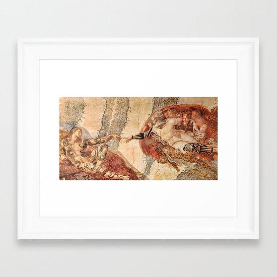 Angel Touch. Framed Art Print
