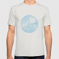 Walking On Cloud Nine  Mens Fitted Tee Silver SMALL