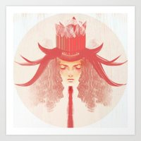 Crown Ruby Art Print