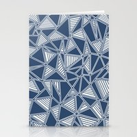 Abstract Outline Lines N… Stationery Cards