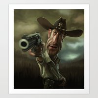 Rick Grimes from 'The Walking Dead'. Art Print