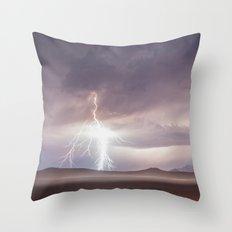 Lightning Strike, Black Rock Desert, NV Throw Pillow