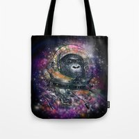 Deep Space Monkey Tote Bag