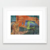 Cave Painting Framed Art Print