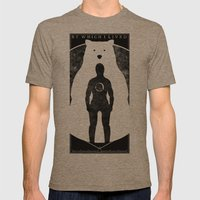 The Bear Mens Fitted Tee Tri-Coffee SMALL