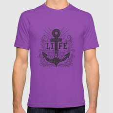 ANCHOR Mens Fitted Tee Ultraviolet SMALL