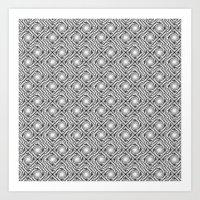 Black And White Broken D… Art Print