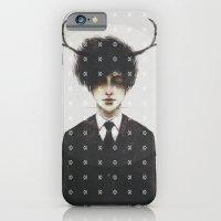 BLACK SUIT ANTLERS iPhone 6 Slim Case
