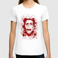 American Psycho Womens Fitted Tee White SMALL