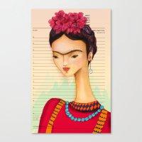 Icons / Frida Canvas Print