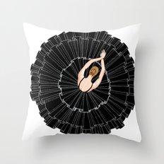 Black Ballerina Throw Pillow