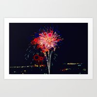 Fireworks! Art Print