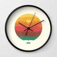 Layers Of Nature Wall Clock