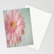 Aqua Gerbera Stationery Cards