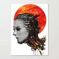 just a ghost in the shell Canvas Print