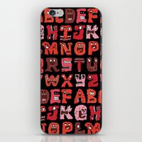 Angry Letters iPhone & iPod Skin