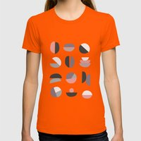 Pastel Geometry 4 Womens Fitted Tee Orange SMALL