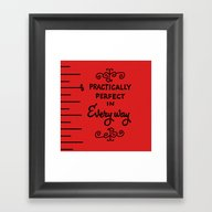 Practically Perfect In R… Framed Art Print