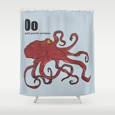 giant pacific octopus Shower Curtain
