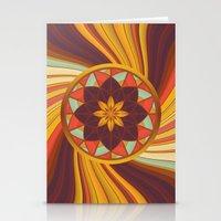 Floral vortex Stationery Cards