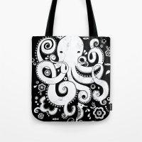 Royal Octopus - Black Tote Bag
