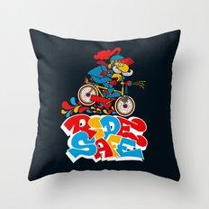 Ride Safe Throw Pillow