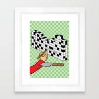 RAZOR CROSSWORD Framed Art Print