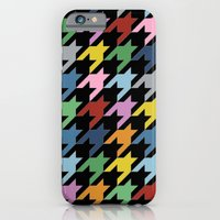 iPhone & iPod Case featuring Dogtooth New on Black by Project M