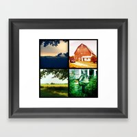Summer On My Parents' Fa… Framed Art Print