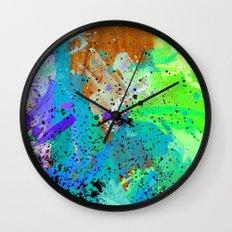Watercolour Arbutus Wood Wall Clock