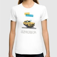 Taxi driver Womens Fitted Tee White SMALL