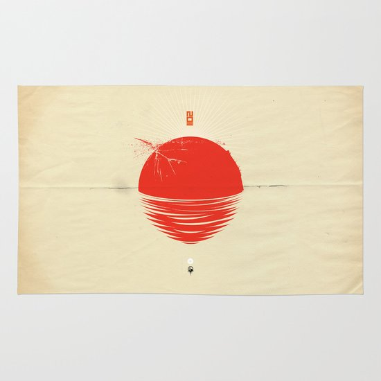 """Japan relief poster/all proceeds will go to """"Peace Winds"""" Area & Throw Rug"""