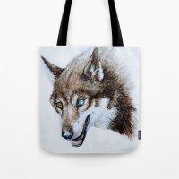 Heterocromia Wolf Tote Bag