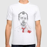 Shaun Of The Dead Mens Fitted Tee Ash Grey SMALL